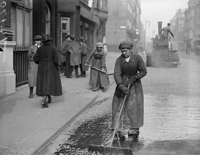 Photograph - Road Repairs by A. R. Coster