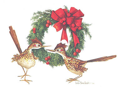 Wall Art - Painting - Road Runner Wreath by Carolyn Shores Wright