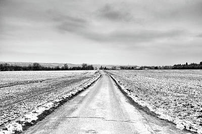 Photograph - Road Through Snow Landscape by Xamah Image