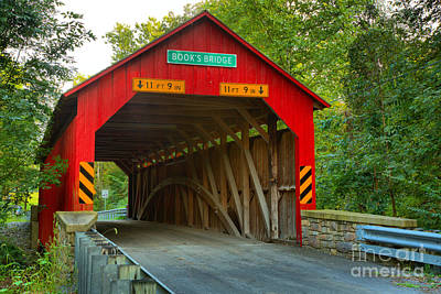 Photograph - Road Through The Books Covered Bridge by Adam Jewell