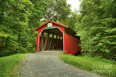 Photograph - Road To Clay's Covered Bridge by Adam Jewell