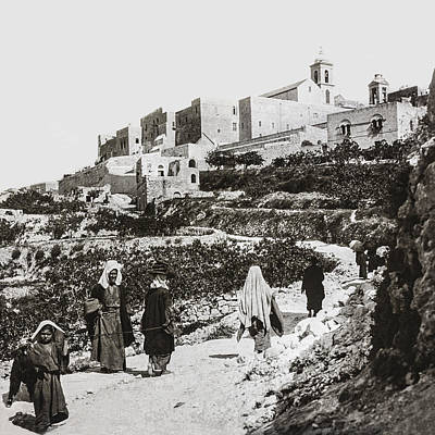 Photograph - Road To Nativity Church 19th Century by Munir Alawi