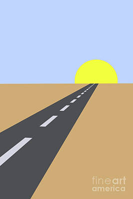 Digital Art - Road To Paradise by Clayton Bastiani