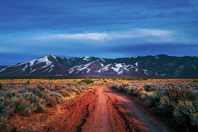 Photograph - Road To Sangre De Cristo Mountain Range by Robert FERD Frank