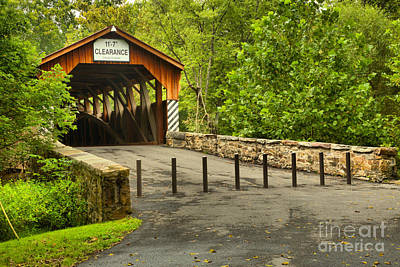 Photograph - Road To The Academia Covered Bridge by Adam Jewell