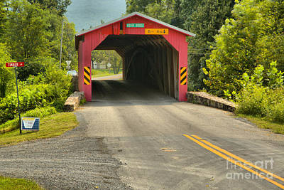 Photograph - Road To The Adair Covered Bridge by Adam Jewell