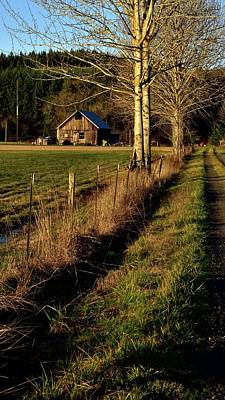 Jerry Sodorff Royalty-Free and Rights-Managed Images - Road To The Barn by Jerry Sodorff