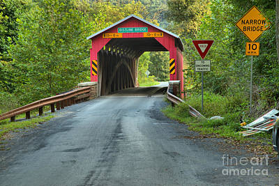 Photograph - Road To The Bistline Covered Bridge by Adam Jewell