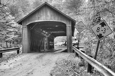 Photograph - Road To The Coombs Covered Bridge Black And White by Adam Jewell