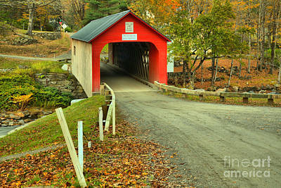 Photograph - Road To The Green River Covered Bridge by Adam Jewell
