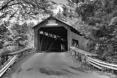 Photograph - Road To The Landisburg Covered Brdge Black And White by Adam Jewell