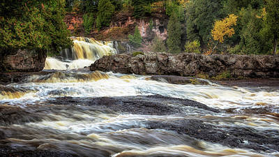 Art Print featuring the photograph Roaring Gooseberry Falls by Susan Rissi Tregoning
