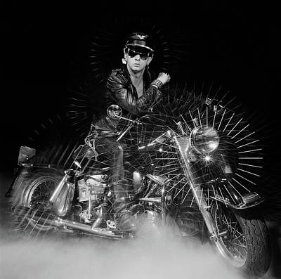 Rob Halford Posed Art Print by Fin Costello