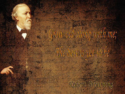 Photograph - Robert Browning 1 by Andrew Fare