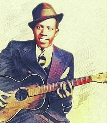 Musicians Royalty Free Images - Robert Johnson, Music Legend Royalty-Free Image by Esoterica Art Agency