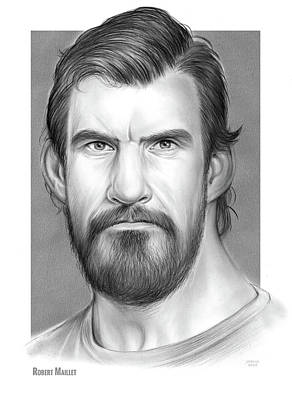 Drawings - Robert Maillet by Greg Joens