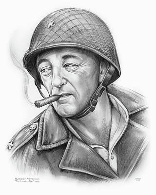 Drawing - Robert Mitchum 2 by Greg Joens