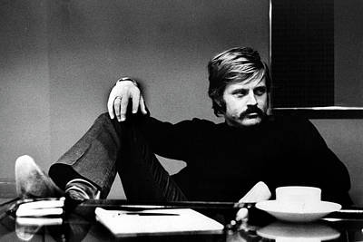 Photograph - Robert Redford At His Desk by John Dominis