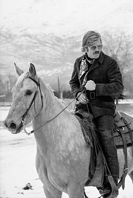 Photograph - Robert Redford On A Horse by John Dominis