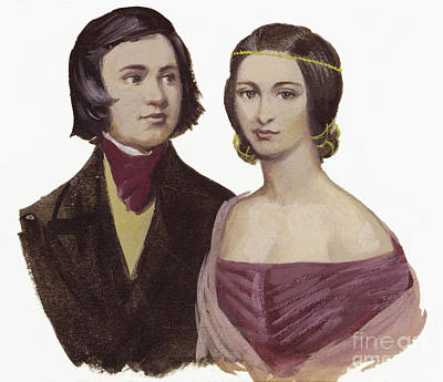 Painting - Robert Schumann And Clara Schumann  by Ralph Bruce