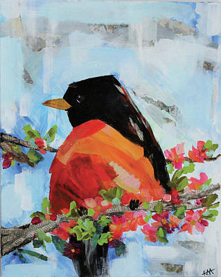 Wall Art - Painting - Robin by Kaley Alie