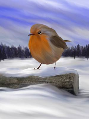 Digital Art - Robin Redbreast by Mark Taylor