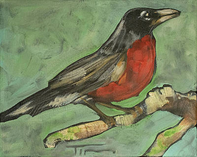 Painting - Robin by Tim Nyberg