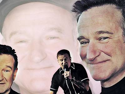 Digital Art - Robin Williams by Mark Baranowski