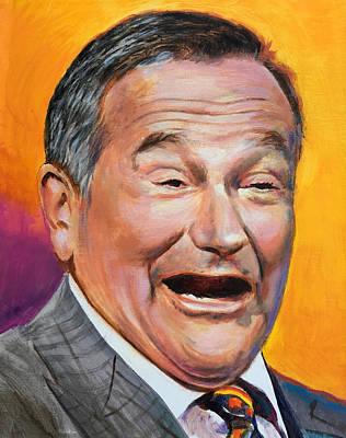 Painting - Robin Williams by Robert Korhonen
