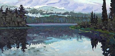 Painting - Robinson Lake Misty Dumoine Sunrise by Phil Chadwick
