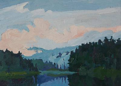Painting - Robinson Lake Morning Cloud by Phil Chadwick