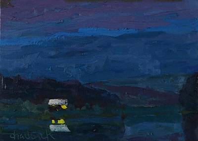 Painting - Robinson Lake Nocturne by Phil Chadwick