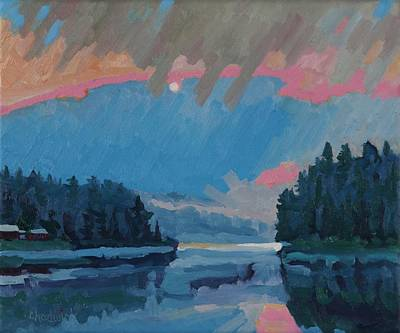 Painting - Robinson Lake Thunderstorm Sunrise by Phil Chadwick
