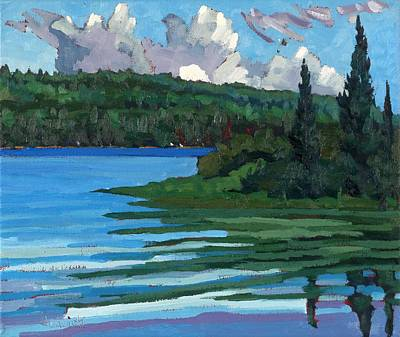 Painting - Robinson Lake Towering Cumulus by Phil Chadwick