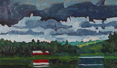 Painting - Robinson Lake Turbulent Stratocumulus by Phil Chadwick