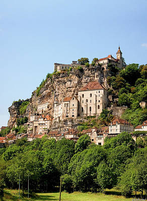 Photograph - Rocamadour From The Riverbank by Weston Westmoreland