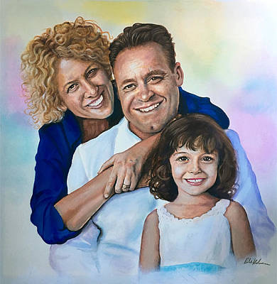 Painting - Rocco Family Portrait by Robert Korhonen