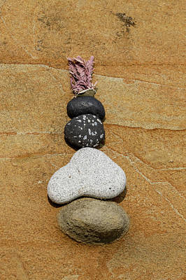 Photograph - Rock Art On A Beach by Michael Chatt