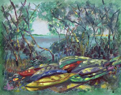 Painting - Rock Harbor Armada by David Bader