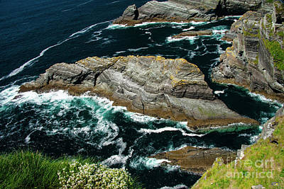 Portmagee Wall Art - Photograph - Rock Island At Kerry Cliffs Two by Bob Phillips