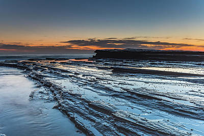 Photograph - Rock Ledge And Bold Dawn Seascape by Merrillie Redden