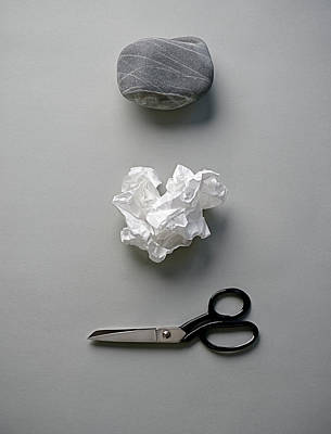 Object Photograph - Rock, Paper & Scissors by David Malan