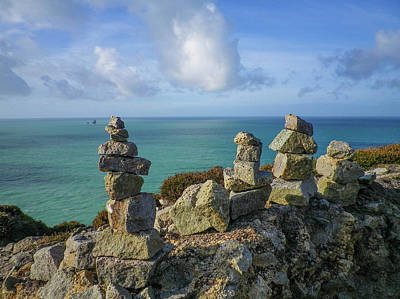 Photograph - Rock Piles Cligga Head Mine Cornwall by Richard Brookes
