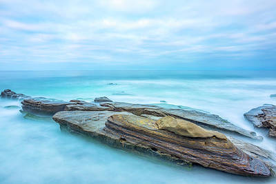 Photograph - Rock Resting In Blue by Joseph S Giacalone