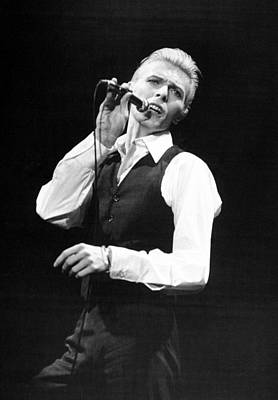 Photograph - Rock Singer David Bowie In Concert At by New York Daily News Archive