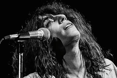 Photograph - Rock Singer Patti Smith In Concert by George Rose