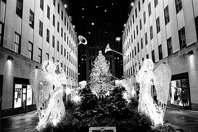 Photograph - Rockefeller Center Angels by Dave Beckerman