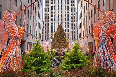 Holiday Print Christmas Ornaments Print Manhattan Oversized Ornaments Long Exposure Print Christmas In NY NYC Art Print