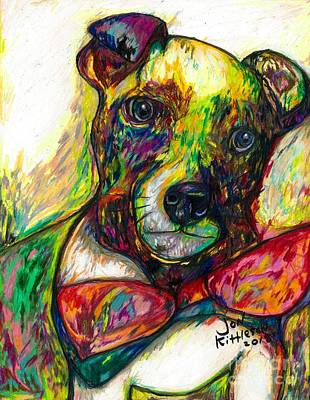 Drawing - Rocket The Dog by Jon Kittleson