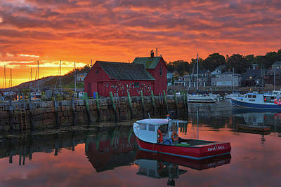 Photograph - Rockport Harbor Sunrise by Juergen Roth